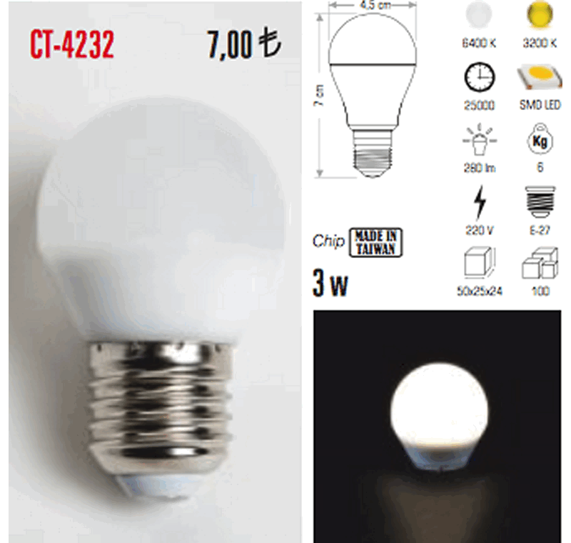CT 4232 LED AMPÜL -CT 4232 LED AMPÜL